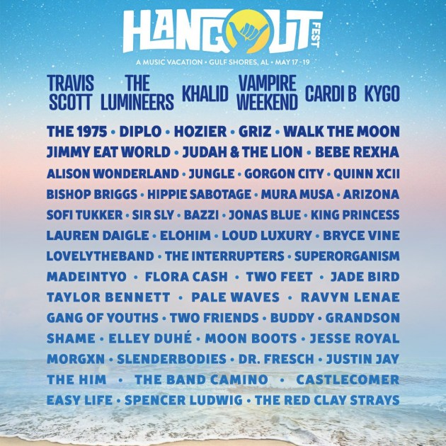hangout music festival 2018 lineup