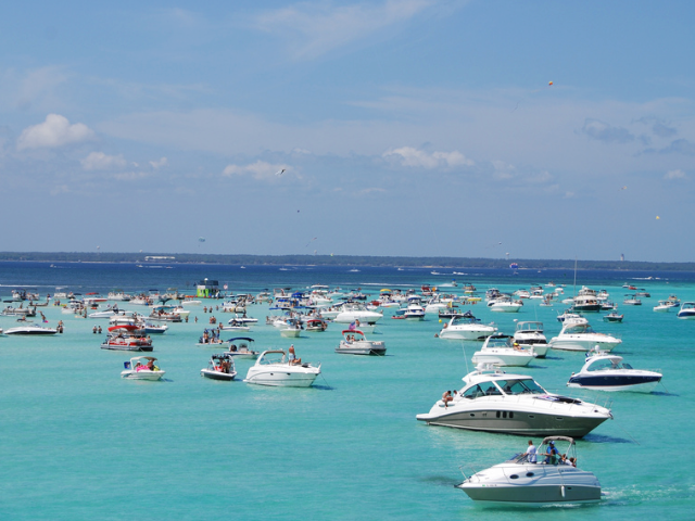 Take your pontoon to Crab Island