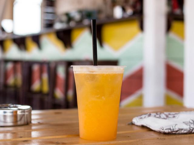Drink on Navarre Beach