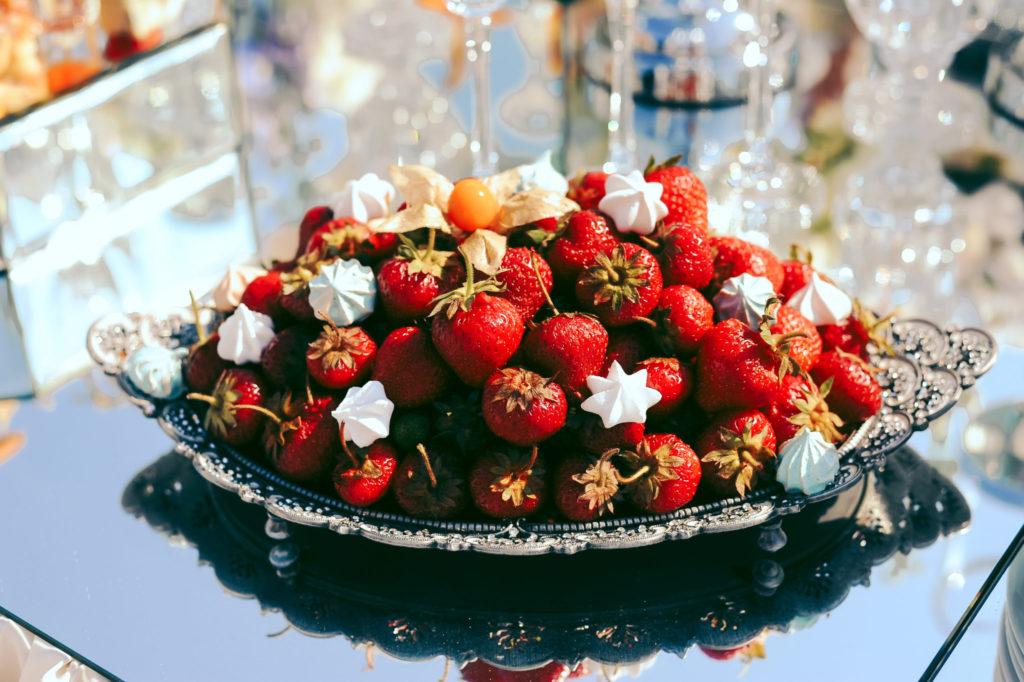 strawberries-exit-wedding-ceremony